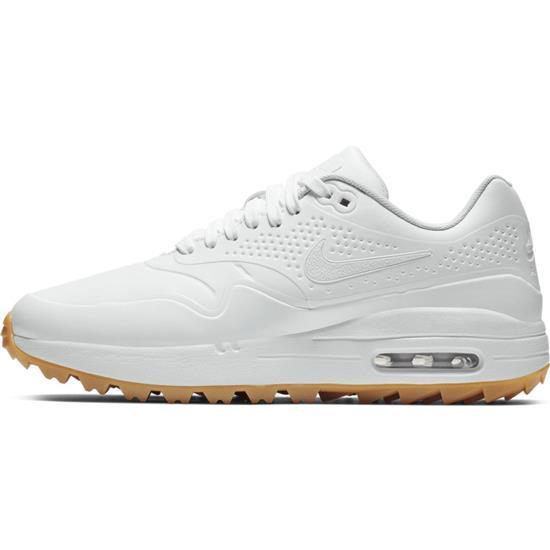 Nike Air Max 1G Golf Shoes for Women - White-White-Gum Light Brown - 10  Medium Golfballs.com b6841b535