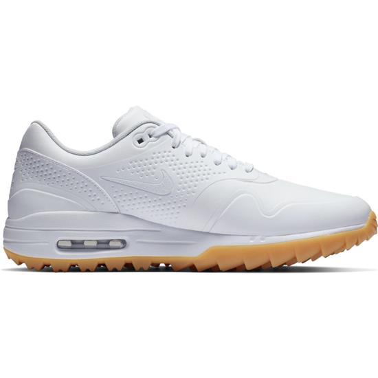 Nike Men s Air Max 1G Golf Shoes - White-White-Gum Light Brown - 9 1 ... 17c3d97d8
