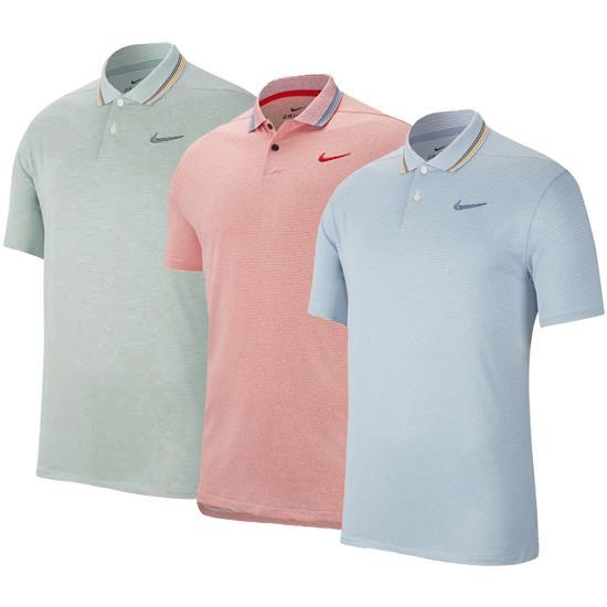 34d36c729a Nike Men's Dry Vapor Control Stripe Polo Golfballs.com