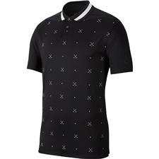 Nike Black-White Dry Vapor Print Polo