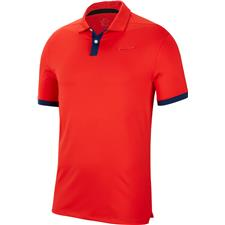 Nike Habanero Red-Blue Void Dry Vapor Solid Polo