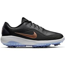 Nike Black-Metallic Red Bronze-Vast Grey React Vapor 2 Golf Shoes for Women