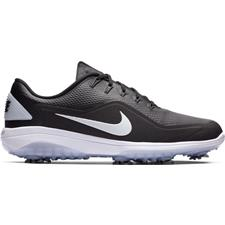Nike Black-Metallic White-White React Vapor 2 Golf Shoes