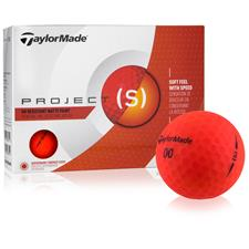 Taylor Made Custom Logo Project (s) Matte Red Golf Balls