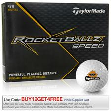 Taylor Made Custom Logo Rocketballz Speed Golf Balls