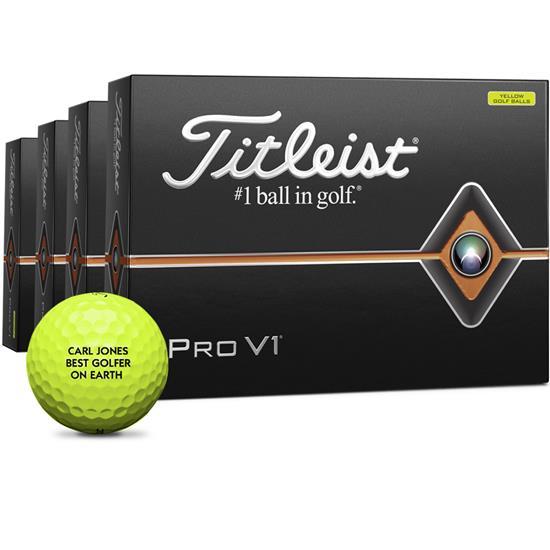 Titleist Pro V1 Yellow Golf Balls - Buy 3 DZ Get 1 DZ Free