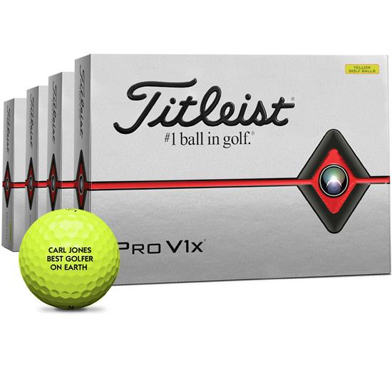 Titleist Pro V1x Yellow Golf Balls - Buy 3 DZ Get 1 DZ Free