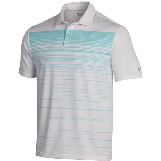 b3cbc13d Under Armour Men's Playoff 2.0 Daybreak Polo - White-Neo Turquoise ...