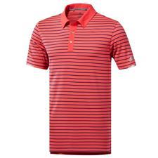 Adidas Medium Climachill Three-Color Stripe Polo