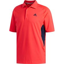 Adidas Shock Red-Collegiate Navy Ultimate365 ClimaCool Solid Polo