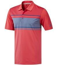 Adidas Shock Red-Active Pink-Dark Marine Heather Ultimate365 Competition Polo