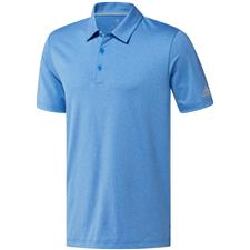 Adidas True Blue Heather-Grey Two Ultimate365 Heather Polo