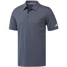 Adidas Collegiate Navy-White Ultimate365 Two-Color Stripe Polo