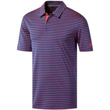 Adidas Dark Marine-Shock Red Ultimate365 Two-Color Stripe Polo