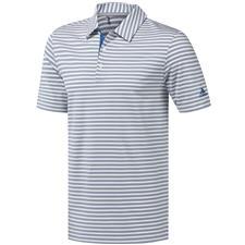 Adidas White-Dark Marine Ultimate365 Two-Color Stripe Polo
