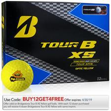 Bridgestone Custom Logo Tour B XS Yellow Golf Balls