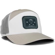 Callaway Golf Men's 6 Panel Trucker Hat - Khaki-White-Slate