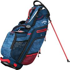 Callaway Golf Fusion 14 Stand Bag - Navy Camo-Red-Flag