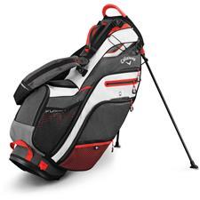 Callaway Golf Fusion 14 Stand Bag - Titanium-White-Blood Orange