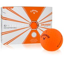 Callaway Golf Logo Overrun Supersoft Matte Orange Golf Balls