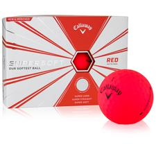 Callaway Golf Supersoft Matte Red Custom Logo Golf Balls