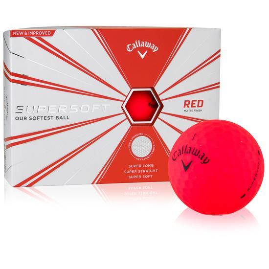 Callaway Golf Supersoft Matte Red Golf Balls
