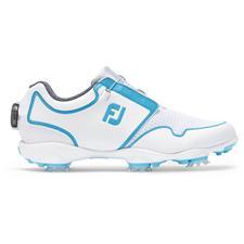 FootJoy White-Bluefish FJ Sport TF BOA Golf Shoes for Women
