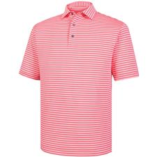 FootJoy Men's Lisle Classic Stripe Self Collar Polo