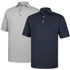 FootJoy Men's Lisle FJ Print Self Collar Polo