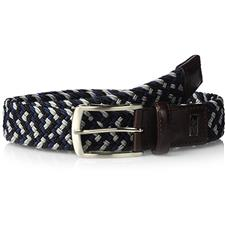 Greg Norman Braided Stretch Belt - Gray-Navy-Black - Size 32