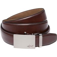 Greg Norman Cut-to-Length Leather Belt - Brown - Size 32-44