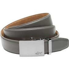 Greg Norman Cut-to-Length Leather Belt - Gray - Size 32-44