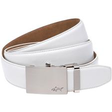 Greg Norman Cut-to-Length Leather Belt - White - Size 32-44