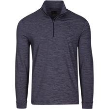 Greg Norman Men's Long Sleeve Micro-Stripe Heathered 1/4-Zip Mock