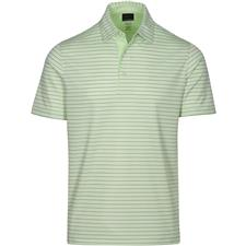 Greg Norman Keylime Protek ML75 Microlux 2 Below Stripe Polo