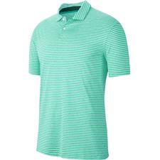 Nike Green Glow TW Vapor Dry Stripe Polo