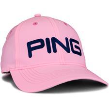 PING Men's Tour Light Hat - Pink-Navy
