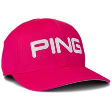 PING Men's Tour Structured Hat - Pink-White - Large/X-Large