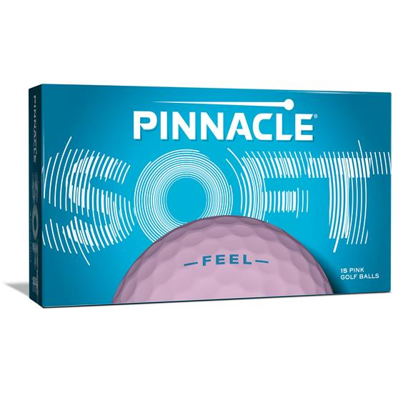 Pinnacle Soft Pink Golf Balls for Women - 15 Pack