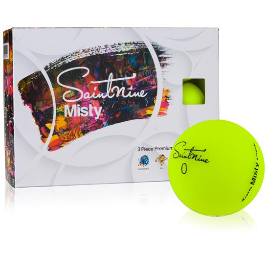 Saintnine Misty Yellow Golf Balls