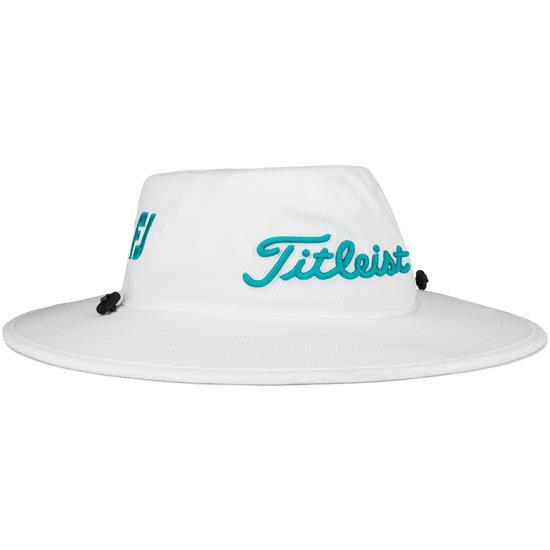 60288b41 Titleist Men's Tour Aussie Hat - White-Teal Golfballs.com