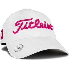 Titleist Tour Performance Ball Marker Hat for Women - White-Magenta
