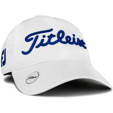 Titleist Tour Performance Ball Marker Hat for Women - White-Royal