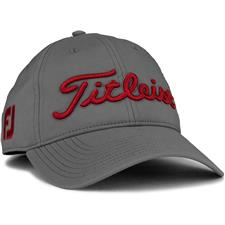 Titleist Men's Tour Performance Charcoal Collection Golf Hat - Charcoal-Dark Red