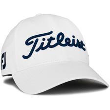 Titleist Men's Tour Performance White Collection Golf Hat - White-Navy