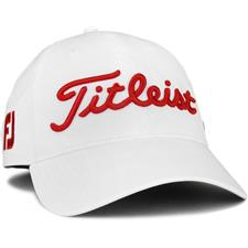 Titleist Men's Tour Performance White Collection Golf Hat - White-Red