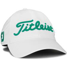 Titleist Men's Tour Performance White Collection Golf Hat - White-Teal