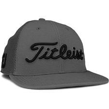 Titleist Men's Tour Snapback Mesh Golf Hat - Charcoal-Black