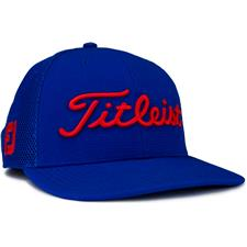 Titleist Men's Tour Snapback Mesh Golf Hat - Royal-Red