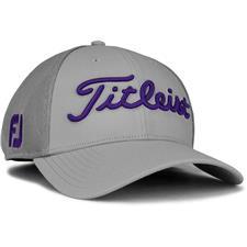 Titleist Men's Tour Sports Mesh Golf Hat - Grey-Purple - Large/X-Large